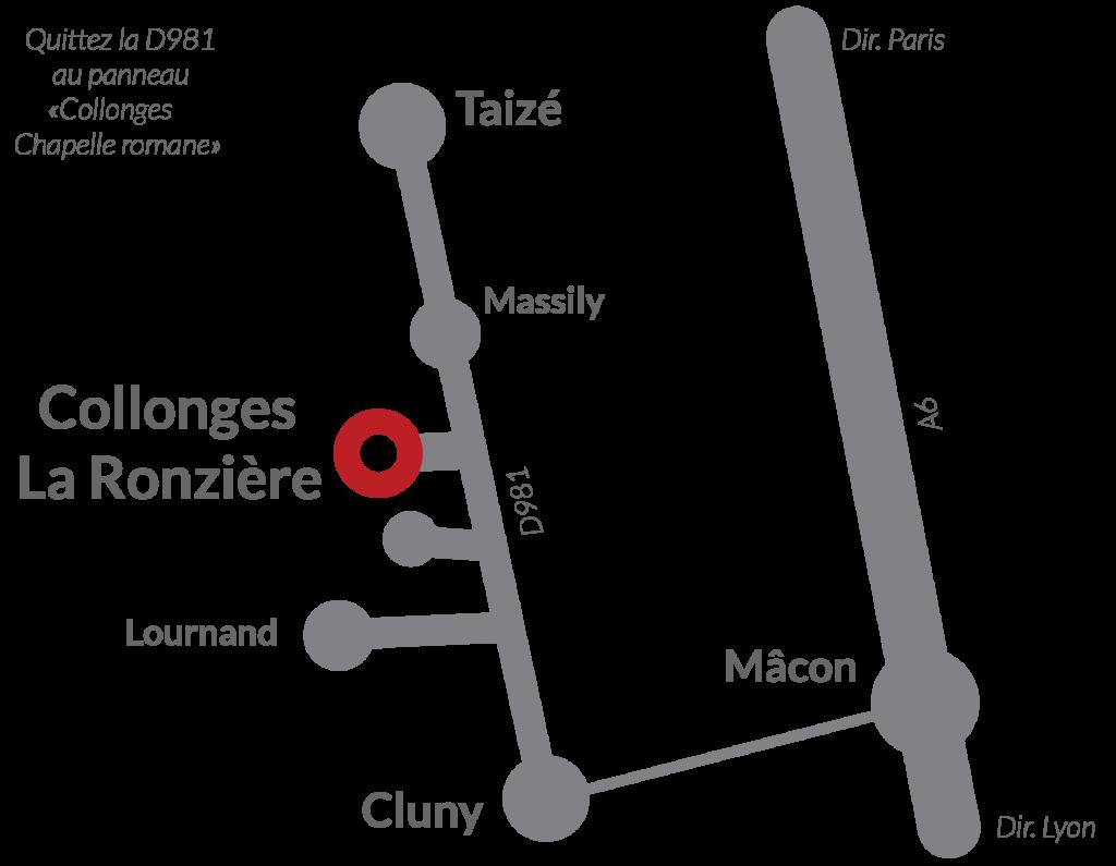 Accès à la Ronzière